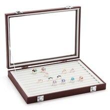 Новый arival мода обернутый PU кожи ювелирных изделий коробка для хранения кольцо серьги организатор держатель ожерелье браслеты стенд дисплей ювелирных изделий