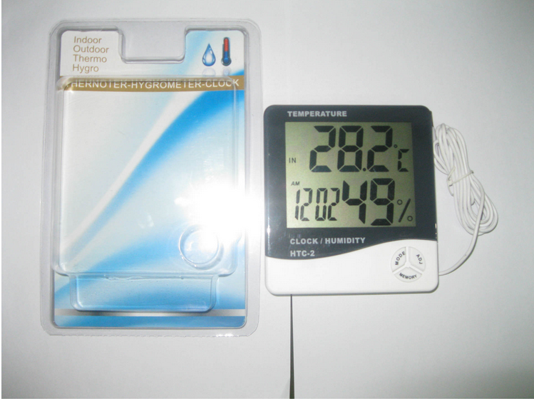 HTC-2 large screen dual thermometer, indoor and outdoor temperature and humidity module