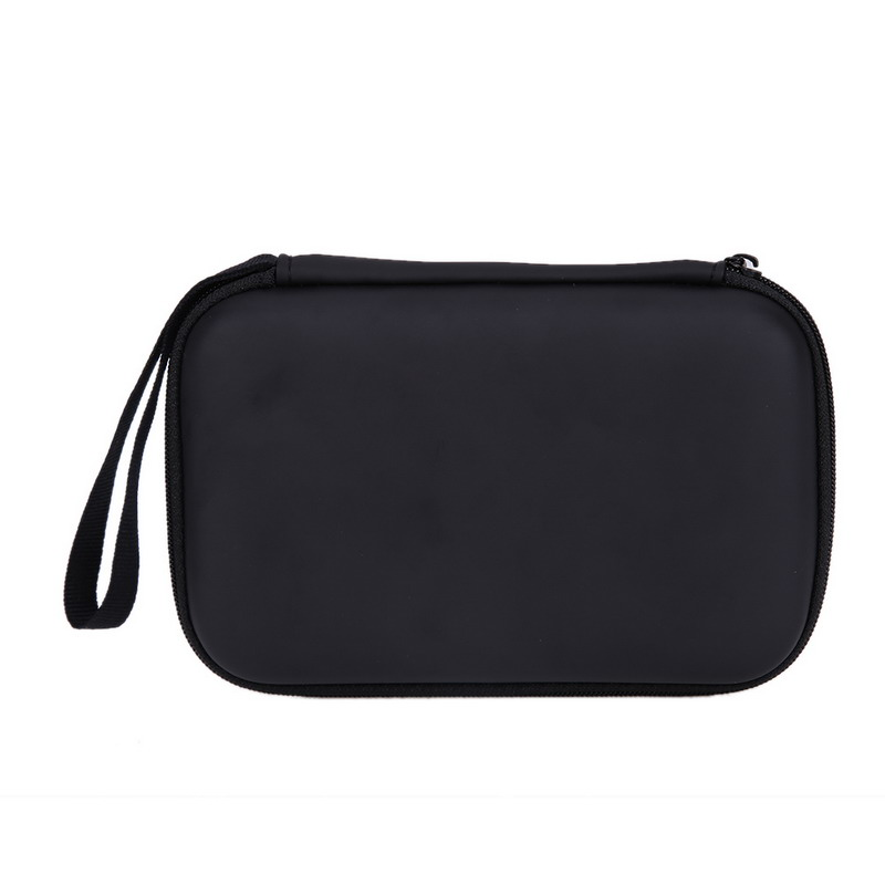 flowcross Hard EVA PU Carrying Case Bag With Zip-Up closure for 2.5 inch External Hard Drive Black