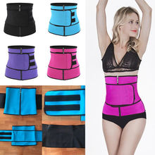 Plus Size Shaper Belt Neoprene Waist Cincher Faja Corset Trainer Zipper Strap Trimmer Girdle
