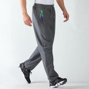Image 2 - אביב גברים ספורט מכנסי טרנינג בתוספת גודל גדול 6XL 7XL 8XL 9XL גבר שחור מכנסיים למתוח מכנסיים מותני אלסטי ישר מכנסיים
