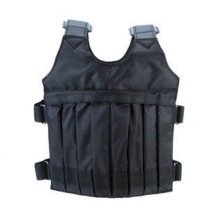 Image 5 - 20kg/50kg Einstellbare Gewichteten Weste Laden Gewichte Weste für Boxing Trainings Workout Fitness Ausrüstung Sand Kleidung