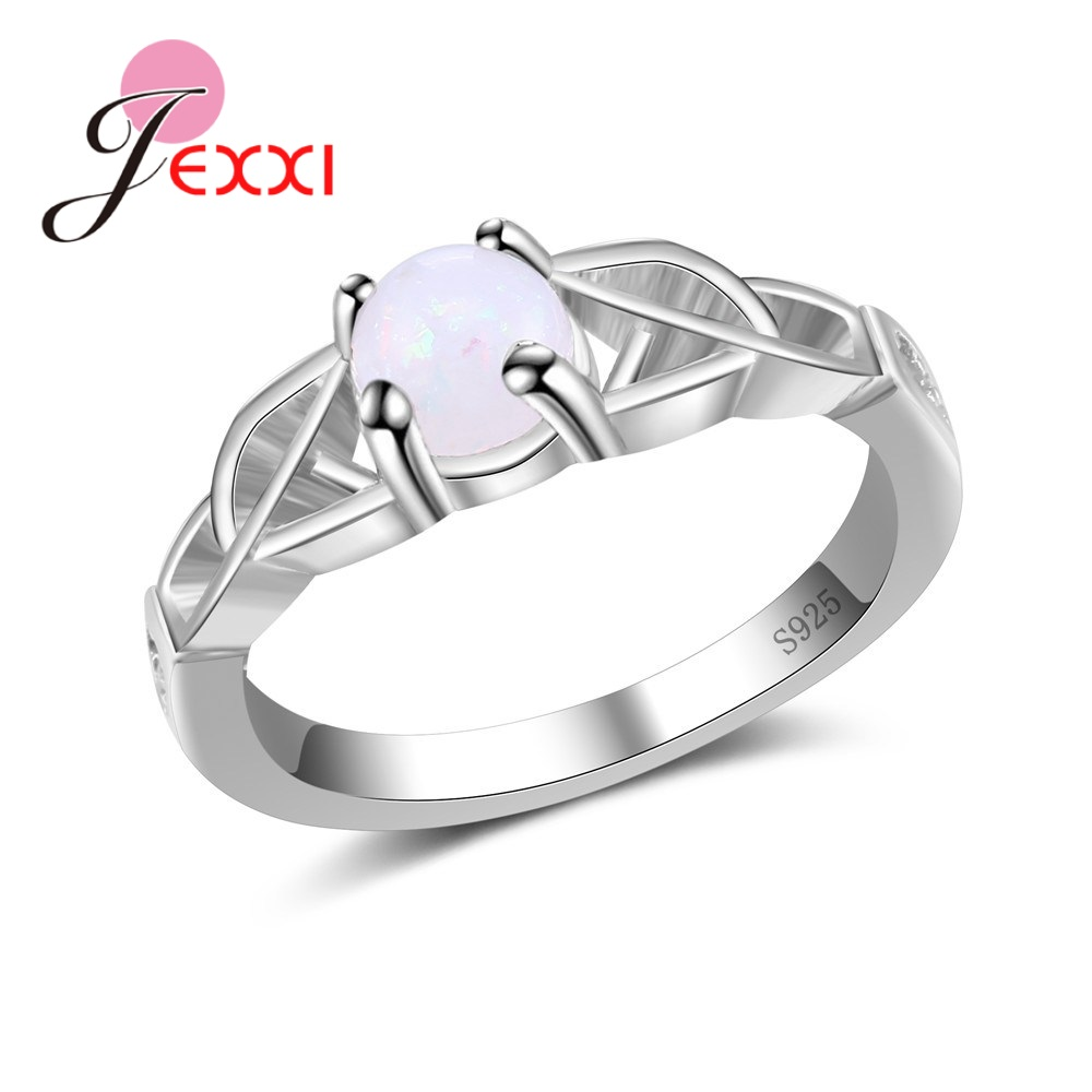 Fashion Modern Rings Bridal Wedding Finger Rings 925 Sterling Silver Trendy Gift For Mother/Girlfriend/Lover/Sister