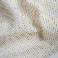 Wedding Dress Shining Gold Color Stretch Fabric French Spandex 3D Nylon Party Apparel Sewing Cloth tecidos 3 yards Free Shipping