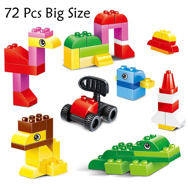Compatible With Lego Duplo 72pcs Big Size Bricks City DIY Creative ...