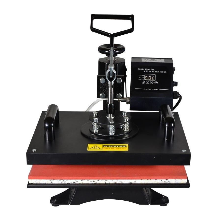 8 dans 1 Combo Machine De Transfert De Chaleur, Sublimation/Presse de La Chaleur Machine, imprimante Pour Tasse/Cap/T-Shirt/Téléphone Cas Etc