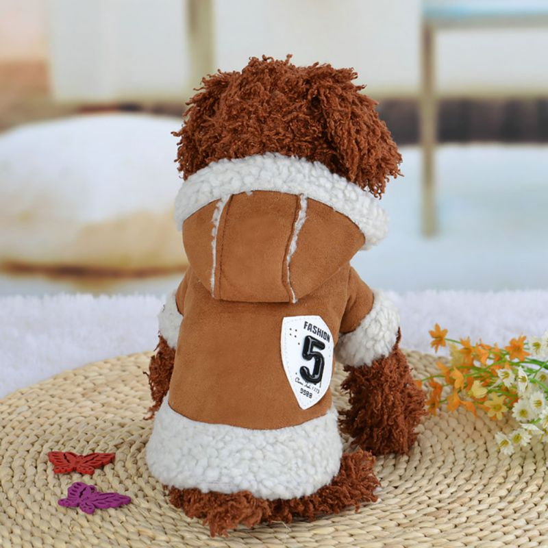Hot Sales Warm Small Pet Dog Cat Winter Coat Jacket Cool Locomotive Jacket for Puppy Dog Costumes XS-XL