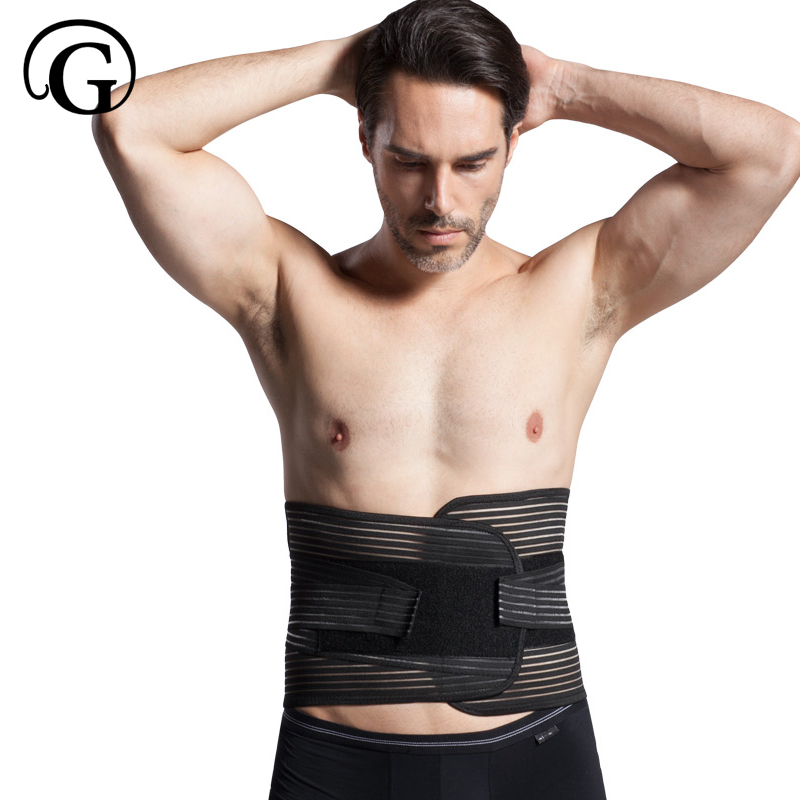 Men Waist Trainer Belt PRAYGER Back Corrector Girdle Man Shaper Slimming Waist Cinchers Belly Trimmer Abdominal Band Supportor