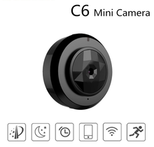 TYIYEWH C6 WiFi Mini Camera HD 720P Security Camera Covert Video Recorder with IR Night Vision Motion Detection for Home Office babykam ip camera video nanny 1 0 m hd baby camera ir night vision intecom motion detection alarm 720p mini camera wifi monitor