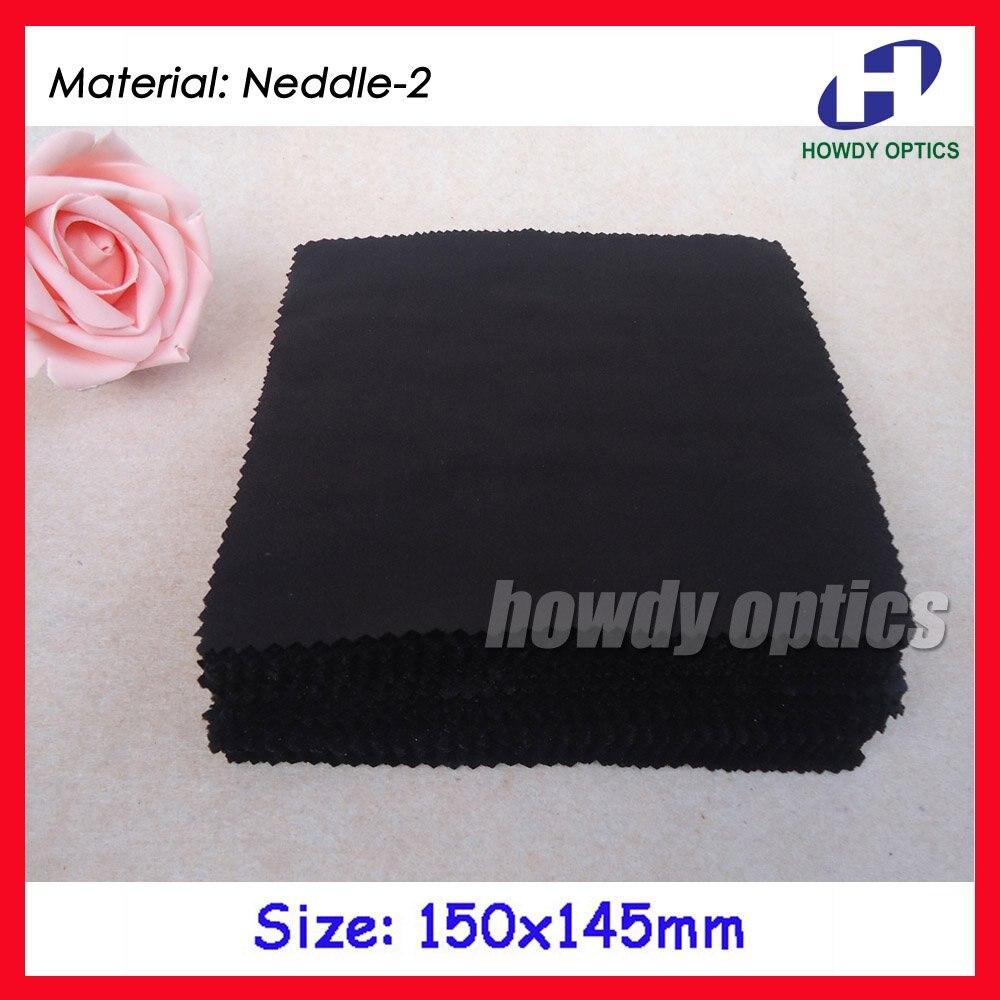 0c874c6b71678 (Hm-5) 175gsm color negro Gafas limpieza 15x14.5 cm microfibra Gafas lente  paño de limpieza envío libre