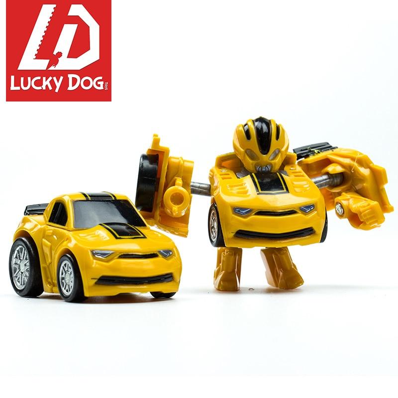 Mini Transformation Robots Toys Cars Cute Figurine Model Block Toys for child Action Figures Plastic Education Boys Gift все цены