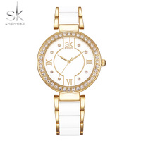 ShengKe Luxury Brand Watches Woman 2018 Bracelet Watch Woman Rhinestones Quartz Wristwatches Waterproof Watch Female Clock