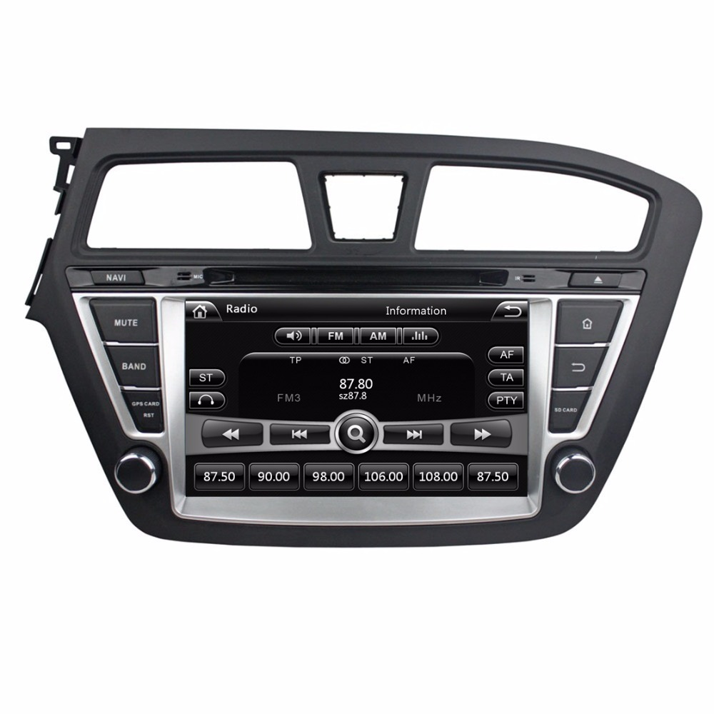 Touch screen HD 2 din 8 Car Radio DVD Player for HYUNDAI i20 2014 2015 With