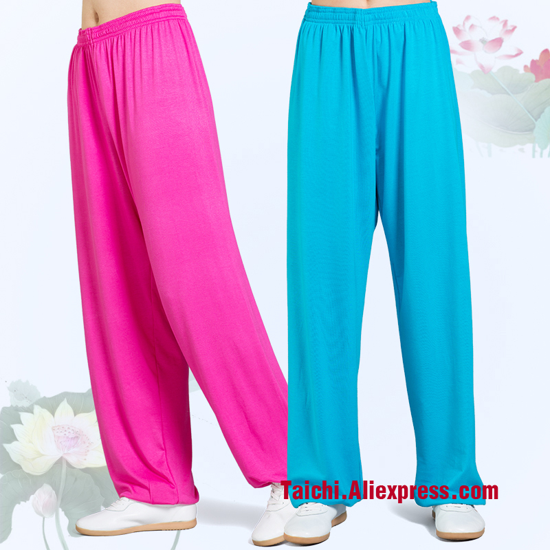 Modal Tai Chi Pants Woman And Man Wu Shu Pants Spring And Summer Martial Art Yoga Pants