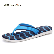 Plardin 2017 Summer Casual men's Flip Flops Flat Sandals Shoes For men Striped Flip Flops Beach Sandals Shoes Man Outside Shoes