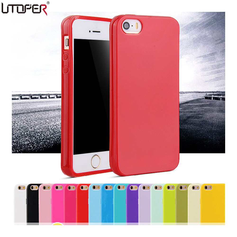 Candy Coque For Apple iphone 5 iphone 5S Case For iphone SE Case Fashion Soft TPU Silicone Phone ...