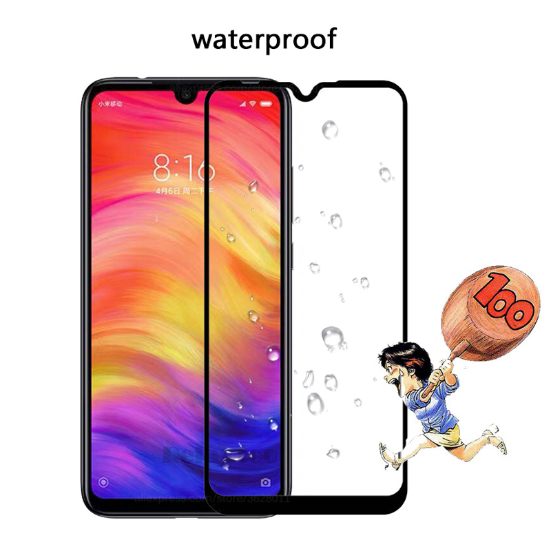 Image 4 - 2 Pcs/ lot Full coverage Tempered Glass For screen protector Xiaomi xiomi Redmi note 7 For Xiaomi redmi note7 protective Film 9h-in Phone Screen Protectors from Cellphones & Telecommunications