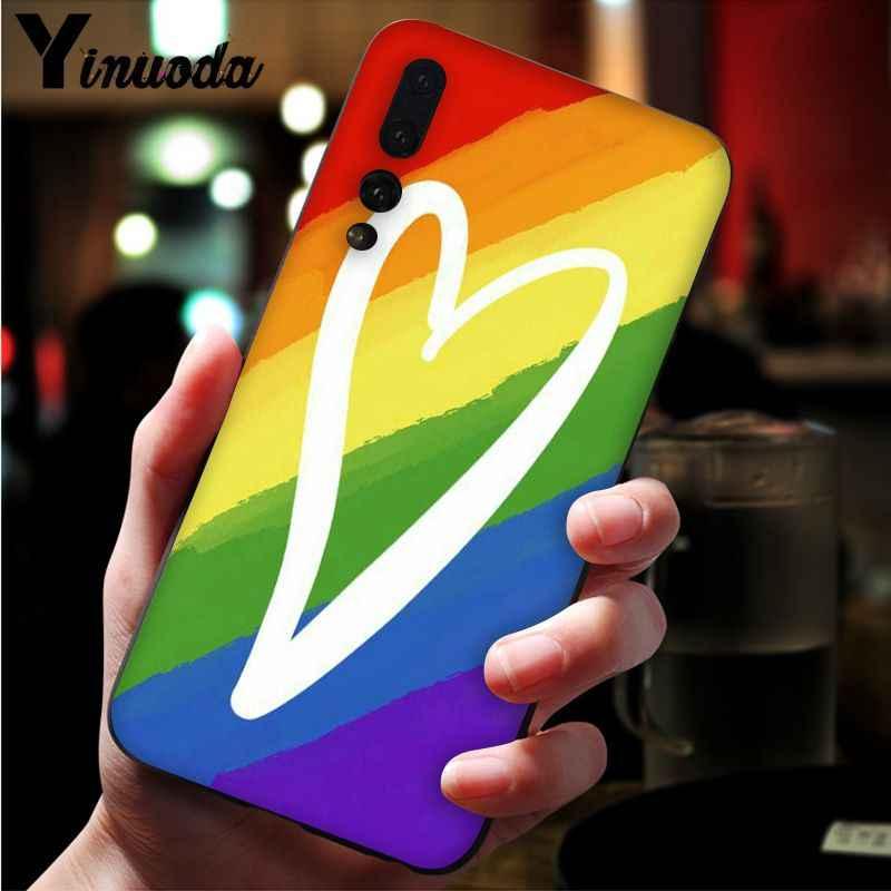 Yinuoda Gay lesbiana LGBT Arco Iris orgullo novedad Fundas funda de teléfono para Huawei P9 P 10 Plus P20 P20 Pro honor 9 10 cubierta