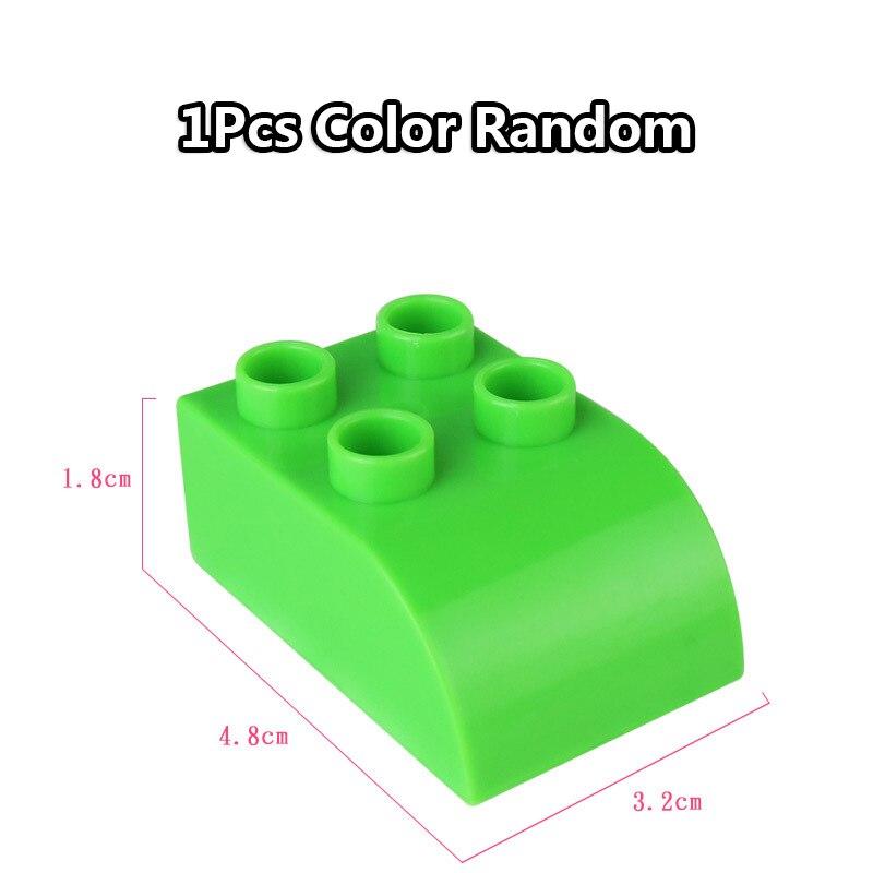 Big Size Duploe Train Building Blocks Bricks Accessory Compatible With Duplos base plate Transparent Square Toys for Children (6)