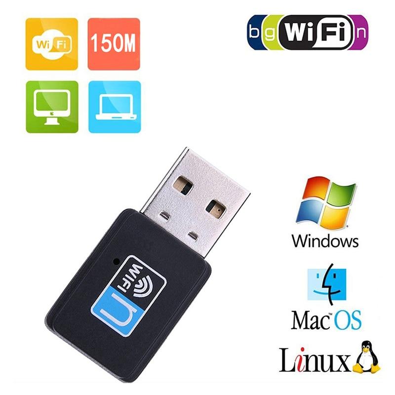 Mini 150Mbps USB WiFi Adapter Wireless Wifi Receiver Portable for Windows Vista/XP/2000/7/8/10,Linux, MAC OS