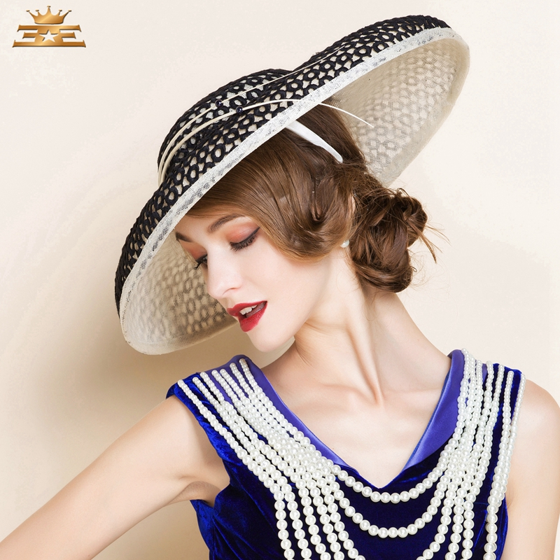 ca467289645c3 Ladies  Fancy Summer Cambric With Bowler Cloche Hat Women s Summer new  fashion hat for women1091-in Fedoras from Apparel Accessories on  Aliexpress.com ...