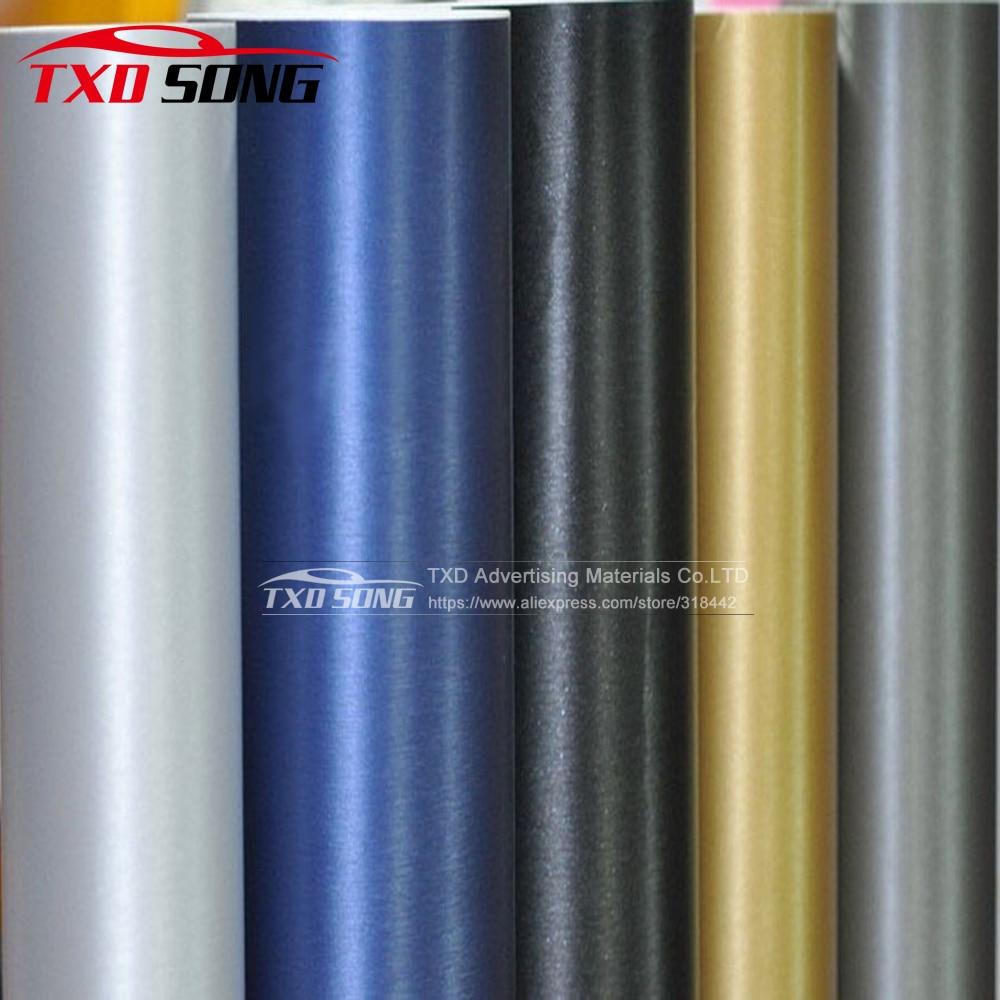 Car Styling Black Dark Grey Silver Metallic Brushed Aluminum Vinyl Car Wrap Film Size 10/20/30/40/50/60cm X 152cm/Lot For Choice