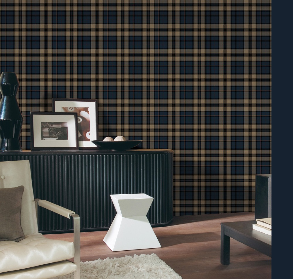 Tartan wall living rooms modern home design ideas for Top 10 living room wallpaper