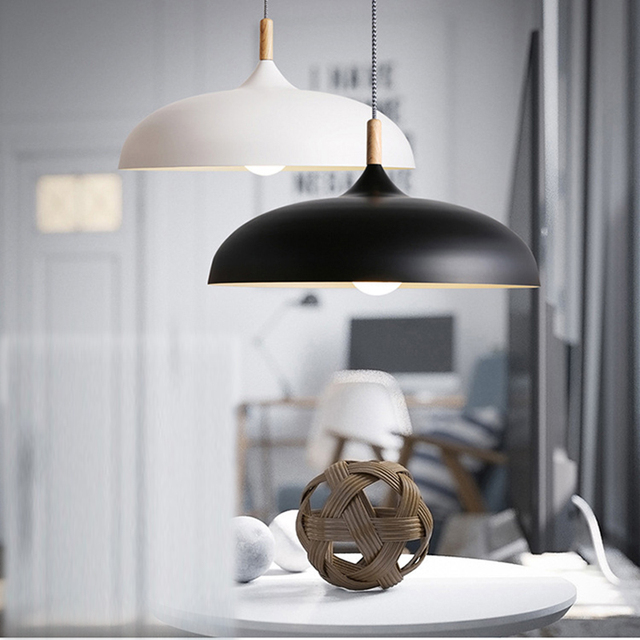American Retro Pendant Lights Modern Dining Room Bedroom Pendant Lamp Led  Nordic Lamp Bar Coffee Shop