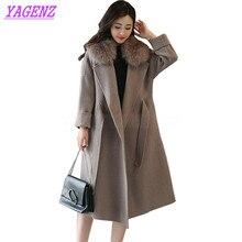 Winter Woolen Jacket Women Korean Temperament Long Wool coat Young Women Fashion Raglan sleeve Gray