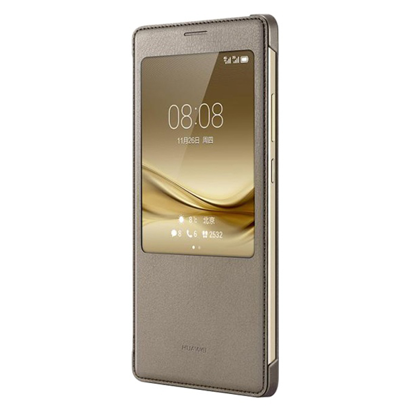 Image 4 - Huawei Original Smart Phone Case View Cover Flip Case For Huawei Mate8 Mate 8 Housing Sleep Function intelligent Phone Case-in Flip Cases from Cellphones & Telecommunications