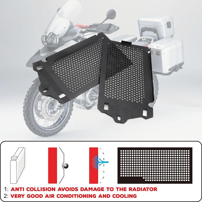 Acessórios da motocicleta Moldura Da Grade Do Radiador Do Motor Protector Guarda Grill Capa Para BMW R1200GS LC/Adventure 2013-2019