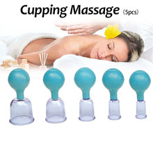 1Pcs Vacuum Cupping Blue Rubber Cupping Set Ventouse Anti Cellulite Suction Cup Chinese Medicine Suction Cups Body Massage Cans t2n2 1pcs chinese medicine massage vacuum therap body cups cupping moxa paste detoxification clearing damp alleviate pain