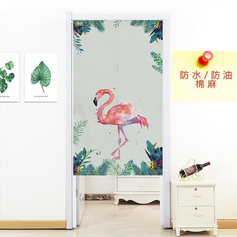 Noren Doorway Curtain Tapestry Cotton Linen Door Curtain Screen Door Blind Room Divider Window Short Linen Door Curtain