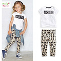 New Girls Clothing Sets Letter Printing Kids Clothes Spring Baby Girl Set Summer Child Tshirts+Pants Cartoon Girls Clothing Sets