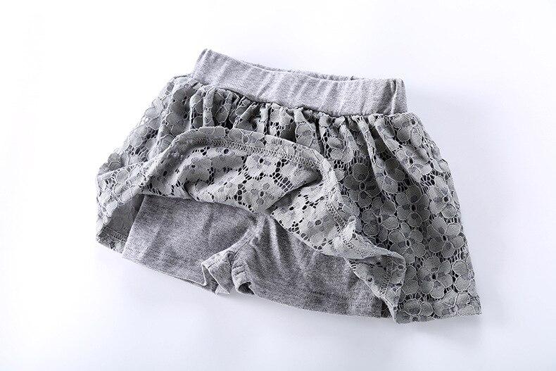 2018 Baby Mädchen Sweet Lace Baumwolle Shorts Röcke Kinder Mädchen - Kinderkleidung - Foto 4