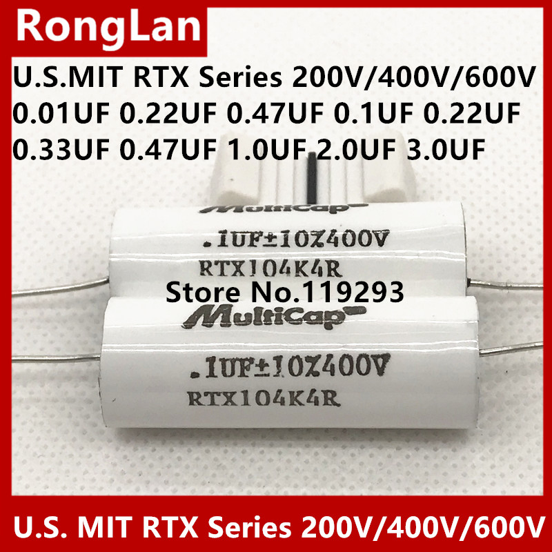 [SA]U.S. MIT RTX Series fever capacitor 200V/400V/600V 0.01 <font><b>0.022</b></font> 0.47 0.1 0.22 0.33 1 2 3UF Imported fever capacitor--5PCS/LOT image