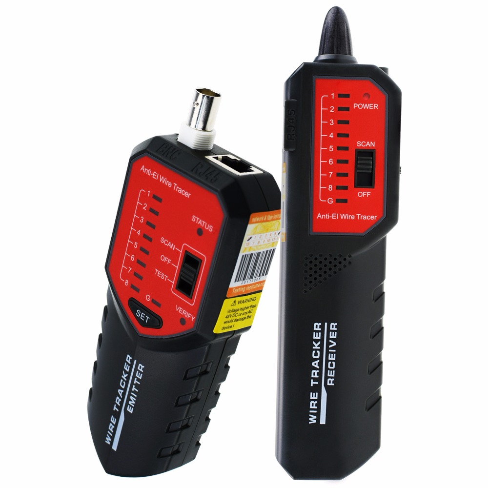 Wire Tracker Locator Wire Sorting Hunting with Complete AC interference Rejection Error Locator Cable Mapping RJ45