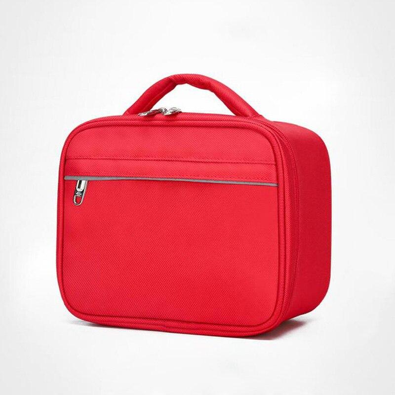 Trousse de premiers soins en plein air sac de sport en Nylon rouge imperméable à l'eau sac de voyage en famille sac médical d'urgence DJJB021