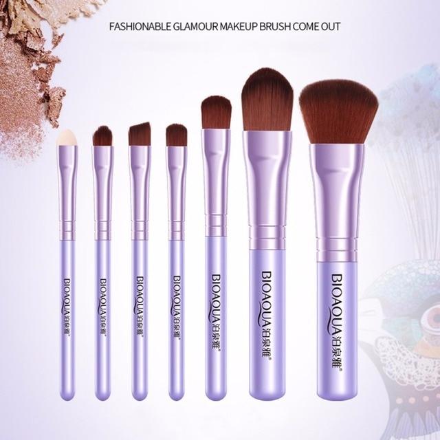 7PCS/SET Pro Women Facial Makeup Brushes Set Face Cosmetic Beauty Eye Shadow Foundation Blush Brush Make Up Brush Tool BIOAQUA 4