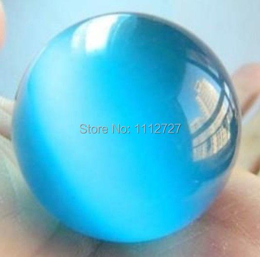 Encantador 40mm Azul Esfera de Ópalo Mexicano Cuentas de Bolas de Cristal Fabricación de Joyas Adornos Regalos del Día de la Madre Piedra Natural AAA GE4019