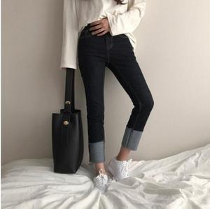 Image 5 - Moda all partita borsa secchiello semplice stile di cuoio dellunità di elaborazione di un sacchetto di spalla delle donne della borsa femminile casuale nero/marrone xuew98