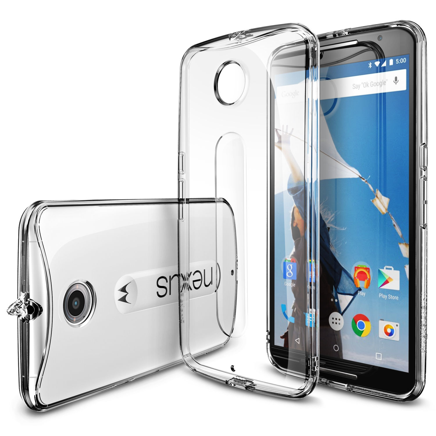 100 Original Ringke Fusion Case for Google Nexus 6 Full Protection Clear Back Cover Phone Cases