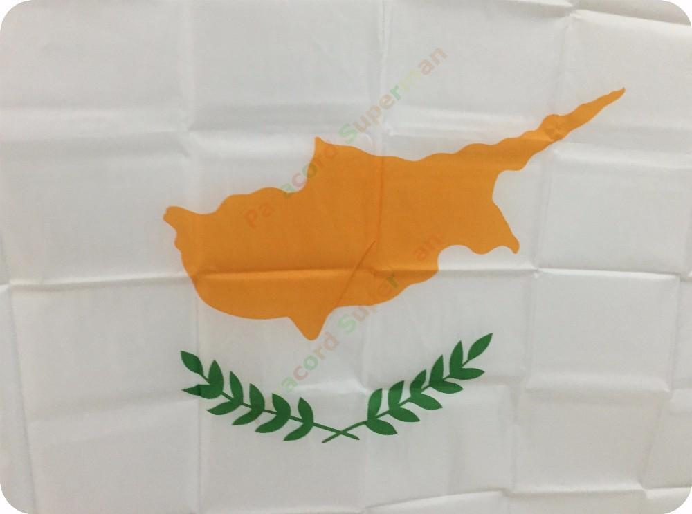 CYPRUS FLAG 5ft x 3ft NEW POLYESTER POST FREE IN UK