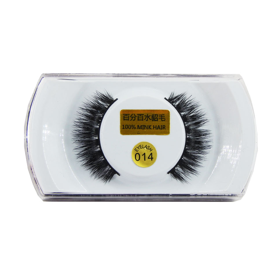 1 Pair Handmade Mink False Eyelashes Popular Super Long Thick Eyelash for Beauty Makeup-EMH014