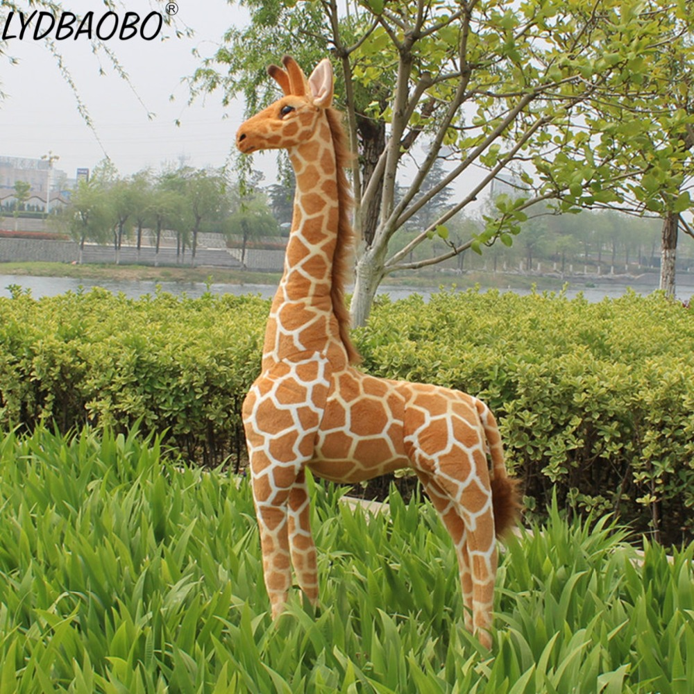 60-120cm Giant Cute Creative Simulation Giraffe Plush Toy Stuffed Girl Soft Animal Doll Home Accessories Baby Kid Birthday Gift