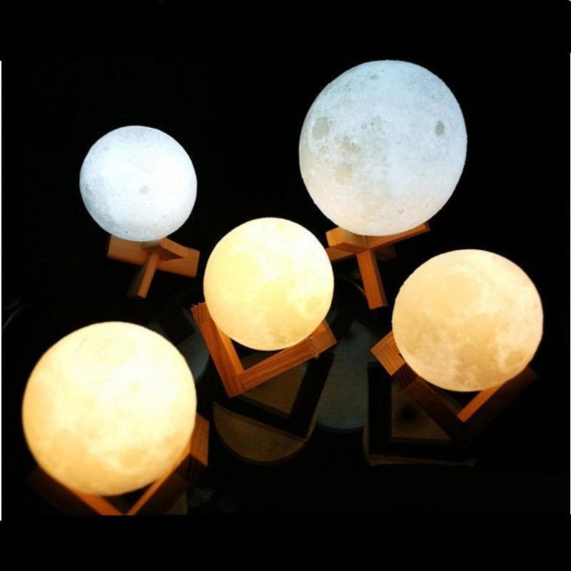 Mpow LED Moon Lamp USB 3D Print LED Night Light Moonlight Touch Sensor Kids Gift Nachtlampje Veilleuse 8/10/12/14/15/18/20 CM