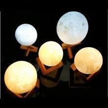 Mpow LED Moon Lamp USB 3D Print LED Night Light Moonlight Touch Sensor Kids Gift Nachtlampje Veilleuse 8/10/12/14/15/18/20 CM beiaidi creative 3d print moon lamps usb rechargeable led night light table moonlight with touch sensor switch christmas gift