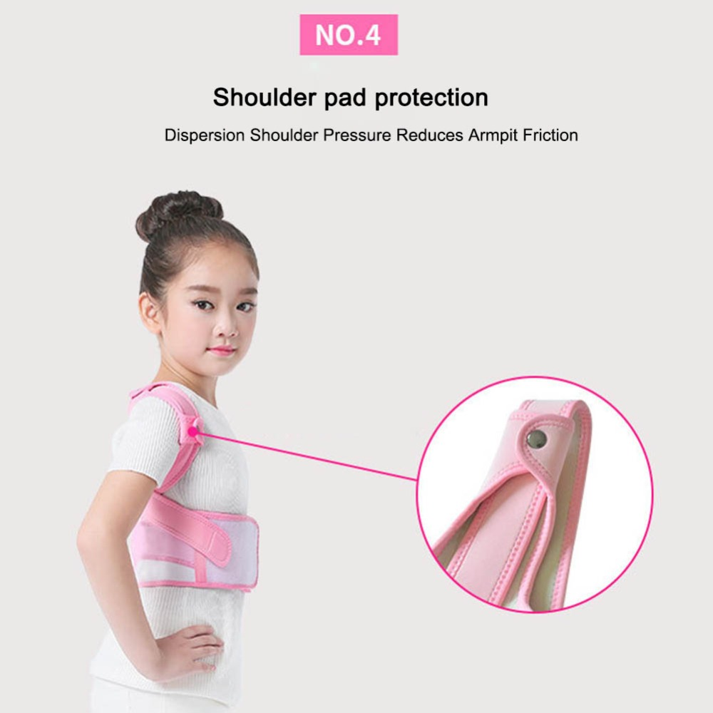 Image 4 - Posture Corrector Breathable durable comfortable Back Shoulder Lumbar Waist Supporting Correction Straighten Upper Children JD19Braces & Supports   -
