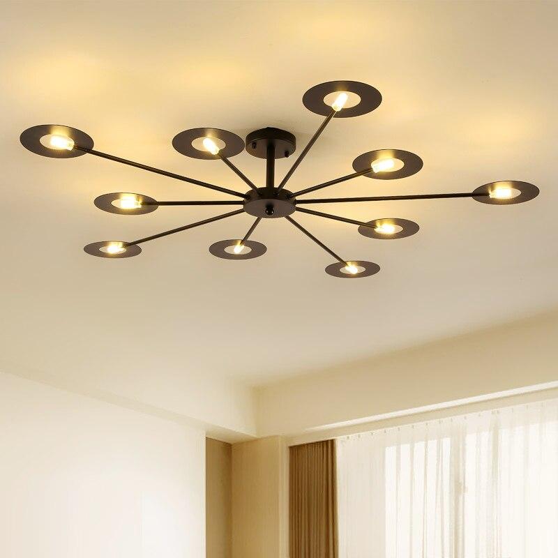Işıklar ve Aydınlatma'ten Avizeler'de Modern LED avize tavan oturma odası kolye lamba nordic fikstür yatak odası asılı ışıklar ev süspansiyon armatür title=