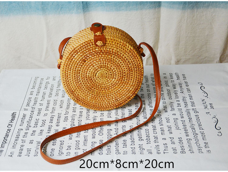 Beautiful Straw Round Bag for Summer 2021